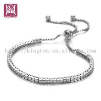 18k italian gold diamond tennis bracelet faux bijou
