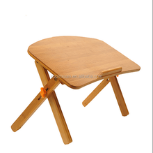 2015 new design Solid adjustable Bamboo Collapsible foldable bamboo portable laptop table