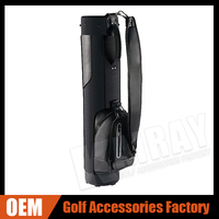 Customized leather material golf sunday bag high quality