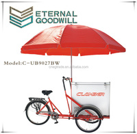 Wholesale single speed bikes ice cream bicycle tricycle cargobike/cargo bike/bicycles/bisiklet UB-9027BW wholesale china