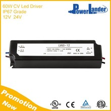 IP67 Waterproof 60W 12V Constant Voltage Led Driver with CE Certificate