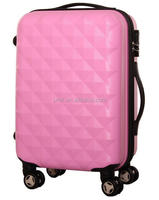 diamond shape hard plastic suitcase abs travel bags trolley upright case