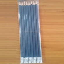 HB Blue Color Black Lead Writing Pencil with Eraser