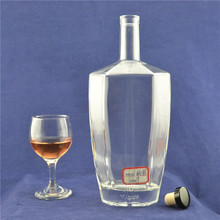Wholesale ultra white flint Gin Rum liquor 1000 ml glass bottle