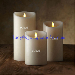 3PCS/Lot Battery Operated Flameless Remote Control LED Dancing Candle with Timer and Moving Flame Wick