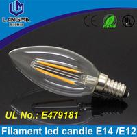 New Design E14 AC 220V 2W 4W LED Filament Candle Bulbs CRI 80 360Degree Instead of 2W 40w halogen bulb Vintage pendant lamps