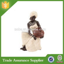 Religion Series Polyresin African Lady Figurine