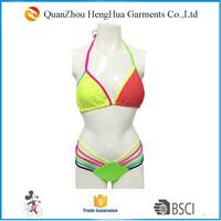 Colored bikini sex triangle bra bikini fashion bikini for lady