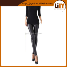 2014 most fashion black pu faux leather legging for girls printed sport leggings just do it