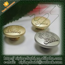 High quality embossed logo metal button jean button