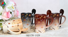 Best Selling color glazed mug ceramic coffee mug with printing