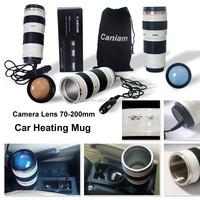 caniam 70-200mm camera lens shape usb electric heated coffee mug warmer