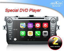 Wince/Android Maisun touch screen car dvd player for Toyota Corolla with gps system