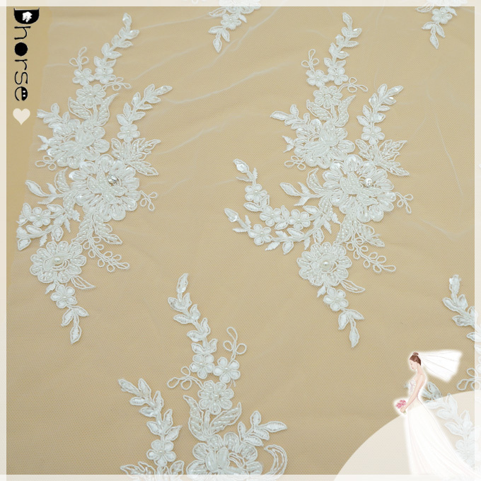 Dhorse Dh Bf560 Cheap Beaed Embroidery Bridal Lace Fabric Dresses Lace Wedding Decoration Lace