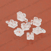 dental orthodontic monocrystal sapphire clear brackets braces