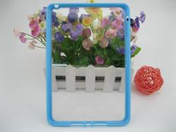 Transparent TPU PC Combo hard case for Ipad mini 2/3/4 ,good for UV printing,10colors available