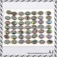 Fashion gemstone bead, Multi-color geode druzy