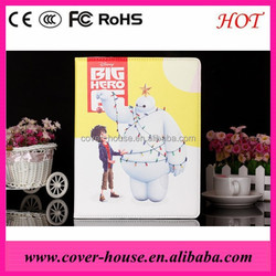Cartoon Baymax Leather Stand case for iPad mini1/2/3 Rotating leather case for iPad mini Wholesaler