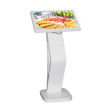 Small size 21.5inch table standing display kiosk for food order
