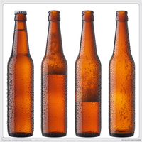 low price wholesale 330ml amber beer bottle