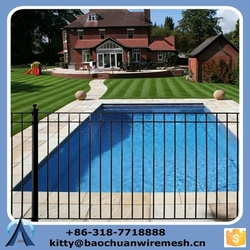 chinese manufacture steel swimming pool fence, galvanized steel temporary swimming used pool fence