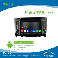 "8"" Android 4.4.4 Car DVD player with Quad-core 1024*600 Resolution 16GB Flash Mirror Link for Great Wall Hover H6"