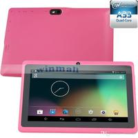 7 Inch 7inch Tablet PC Allwinner A33 Quad core Q88 Android 4.4 Tablets 512M 4GB HD Screen Bluetooth OTG Tablet