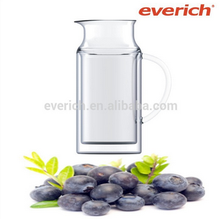 20015 Promotional double wall glass water pot with handle