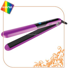 Beauty salon equipment hair straightening tools LCD display digital touch-sensitive control ceramic hair straightener flat iron