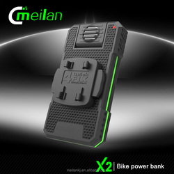 X2-8 electric bicycle waterproof Bike Power Bank With head Light and phone holder