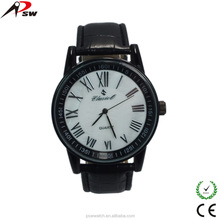 Best gift men's watches with Genuine leather band fashion sports watch