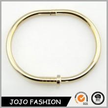 Statement bracelet 2015 fashion elastic magnetic thin gold nail bangle