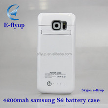 Newest Power bank 4200mAh Battery Case For samsung S6 , Portable Power Case Charger for samsung S6 rechargeable battery