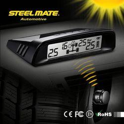 2015 SteelmateTP-S1 solar power tpms gauge, tpms sensor universeel cub 433mhz, professional tire pressure gauge