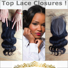 4x4 virgin brazilian body wave remy lace front closure middle part with baby hair bleached knots