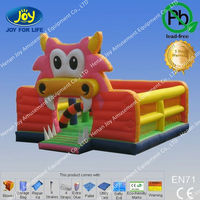The Most Popular Inflatable Bounce House, Pink Dragon Bouncer, Mouth Open Dragon House