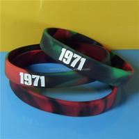 Free Design silicone bracelets swirl Color Silicone Wristbands
