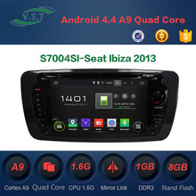 Android 4.4 dual-core car dvd player with BT/WIFI/RADIO/GPS for Seat Ibiza 2013