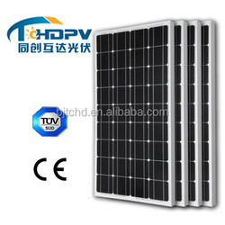 Hot sale 150w panel solar monocrystalline manufactures in China with CE TUV certificates