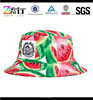 Custom fruit watermelon printed bucket hats/colorful print pattern bucket cap