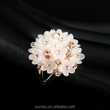 Fancy Flower Crystal Ring Fashion Jewlery 2015 Hot Sale Ring Jewelry