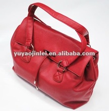 2012 Red fashion pu leather lady handbag