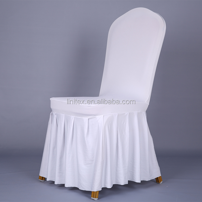 Polyester Lycra Spandex Stretch Chair Cover With Accordion