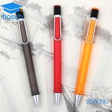 Fluent writing customized plastic pen gel black ink pen logo