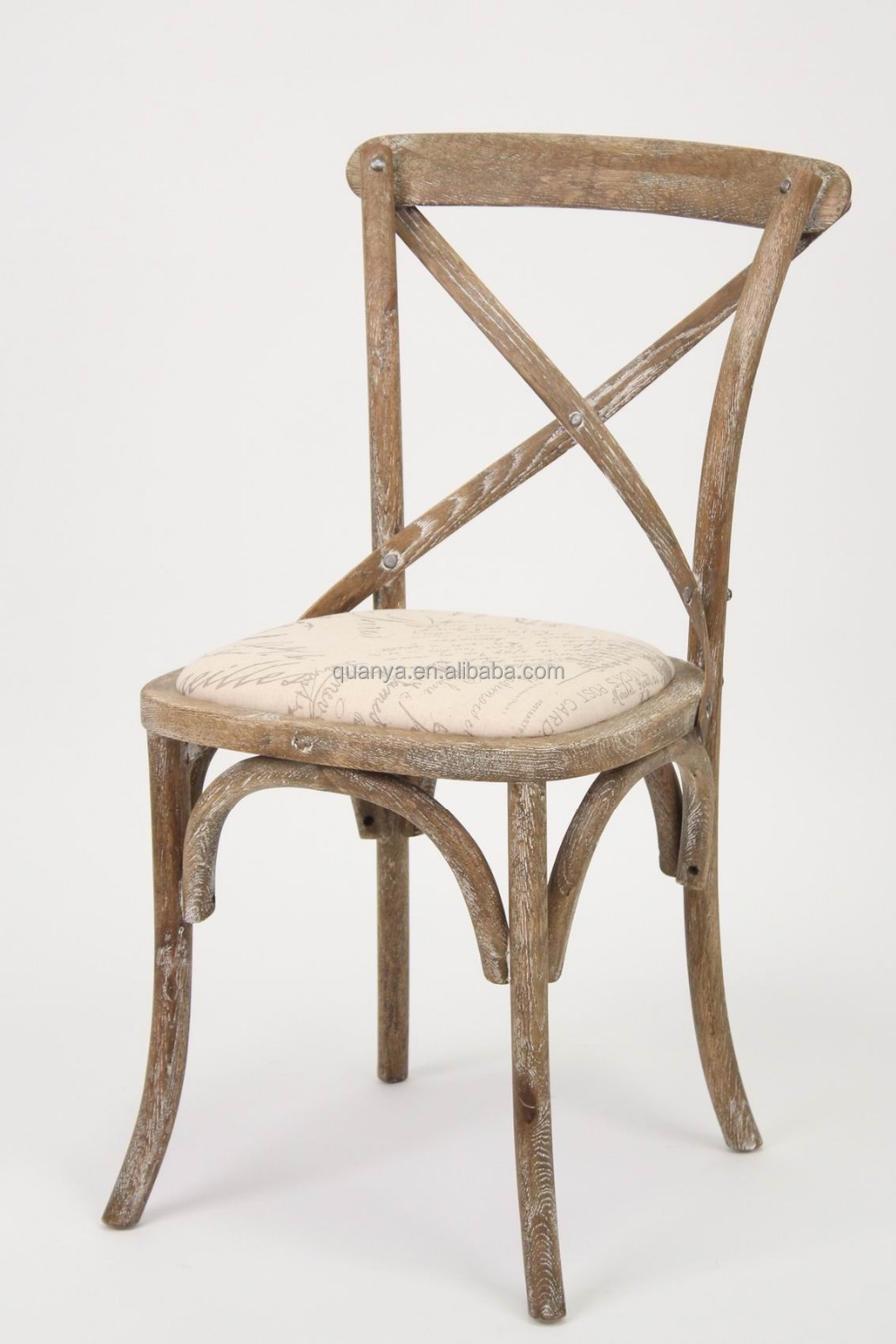 French Wooden Chairs ~ French bistro style wooden cross back chair dining