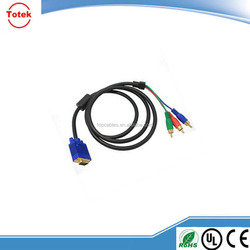 Wholesale male VGA to RCA Audio and Video Cables