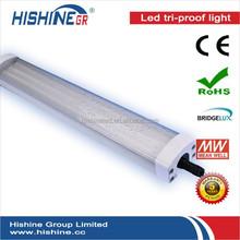 2015 new fluorescent light fixture waterproof IP65 2ft 4ft 5ft LED tri-proof light