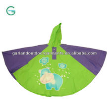 Childrens funny rain poncho