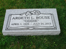 Granite Headstone Grave Marker- Gray- multiple engraving options flat or grass