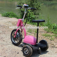 New design three wheeler standing up 4 seater foldable electric vintage golf carts with big front tire
